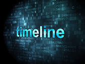Timeline concept: Timeline on digital background — Photo