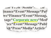 News concept: Corporate News on Paper background — Stock Photo