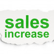 Stock Photo: Marketing concept: Sales Increase on Paper background