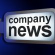 News concept: Company News on billboard background — Stock Photo