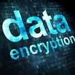 Stockfoto: Protection concept: DatEncryption on digital background
