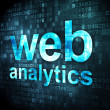 SEO web development concept: Web Analytics on digital background — Stock Photo #32600431