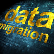 Information concept: DatMigration on digital background — Foto Stock #32600491