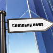 News concept: Company News on Building background — Stock Photo