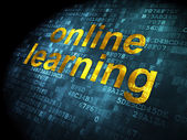 Education concept: Online Learning on digital background — Photo