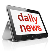 News concept: Daily News on tablet pc computer — Foto de Stock