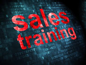 Advertising concept: Sales Training on digital background — Stock Photo