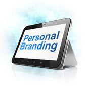 Marketing concept: Personal Branding on tablet pc computer — Stock Photo