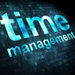 Timeline concept: Time Management on digital background — Stockfoto