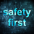 Stock Photo: Protection concept: Safety First on digital background