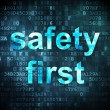 Protection concept: Safety First on digital background — Stock Photo