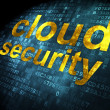 Cloud technology concept: Cloud Security on digital background — Foto de stock #32646933