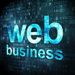 SEO web design concept: Web Business on digital background — Stock Photo