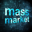Advertising concept: Mass Market on digital background — Stock Photo