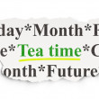 Timeline concept: Tea Time on Paper background — Photo