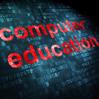 Education concept: Computer Education on digital background — Foto de stock #32648655