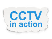 Safety concept: CCTV In action on Paper background — Stock Photo