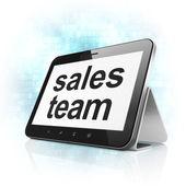 Marketing concept: Sales Team on tablet pc computer — Foto de Stock