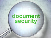 Privacy concept: Document Security with optical glass — Stock Photo
