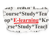 Education concept: E-learning on Paper background — Foto Stock
