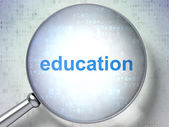 Education concept: Education with optical glass — Stockfoto