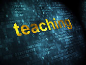 Education concept: Teaching on digital background — Stock Photo