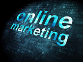 Advertising concept: Online Marketing on digital background — Stock Photo