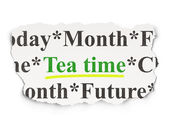 Timeline concept: Tea Time on Paper background — 图库照片