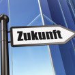 Time concept: Zukunft(german) on Building background — Stockfoto