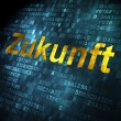 Time concept: Zukunft(german) on digital background — Photo