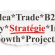 Business concept: Strategie(french) on Paper background — Foto Stock