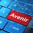 Time concept: Avenir(french) on computer keyboard background — ストック写真