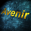 Time concept: Avenir(french) on digital background — Lizenzfreies Foto