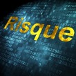 Finance concept: Risque(french) on digital background — Stock Photo