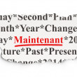 Timeline concept: Maintenant(french) on Paper background — Stock Photo