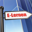 Education concept: E-Lernen(german) on Building background — Stock Photo #32658353