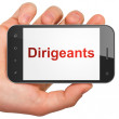 Business concept: Dirigeants(french) on smartphone — Photo #32659915
