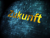 Time concept: Zukunft(german) on digital background — Stock Photo