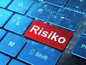 Finance concept: Risiko(german) on computer keyboard background — Stock Photo