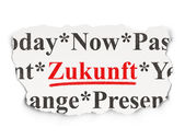 Time concept: Zukunft(german) on Paper background — Stock Photo