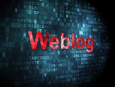 O conceito de design da Web: Weblog(german) no fundo digital — Fotografia Stock