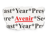 Time concept: Avenir(french) on Paper background — 图库照片