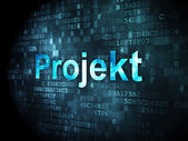 Finance concept: Projekt(german) on digital background — Stock Photo