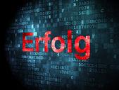 Business concept: Erfolg(german) on digital background — Stock Photo