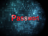 Privacy concept: Passwort(german) on digital background — Stock Photo