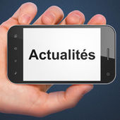 News concept: Actualites(french) on smartphone — Stock Photo