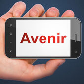 Time concept: Avenir(french) on smartphone — Stock fotografie