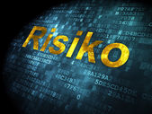 Business concept: Risiko(german) on digital background — Stok fotoğraf