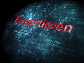 Finance concept: Exportieren(german) on digital background — Foto Stock