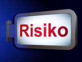 Finance concept: Risiko(german) on billboard background — Stock Photo